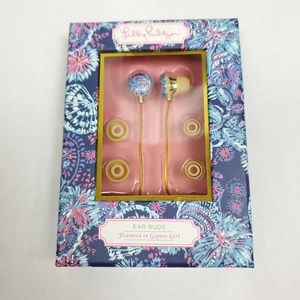 Lilly Pulitzer Navy Gypsea Girl Earbuds